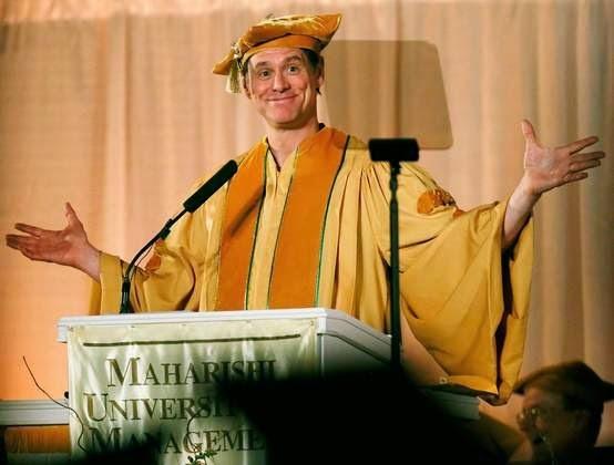 discurso de Jim Carrey na Universidade de Maharishi, em Iowa, Estados Unidos