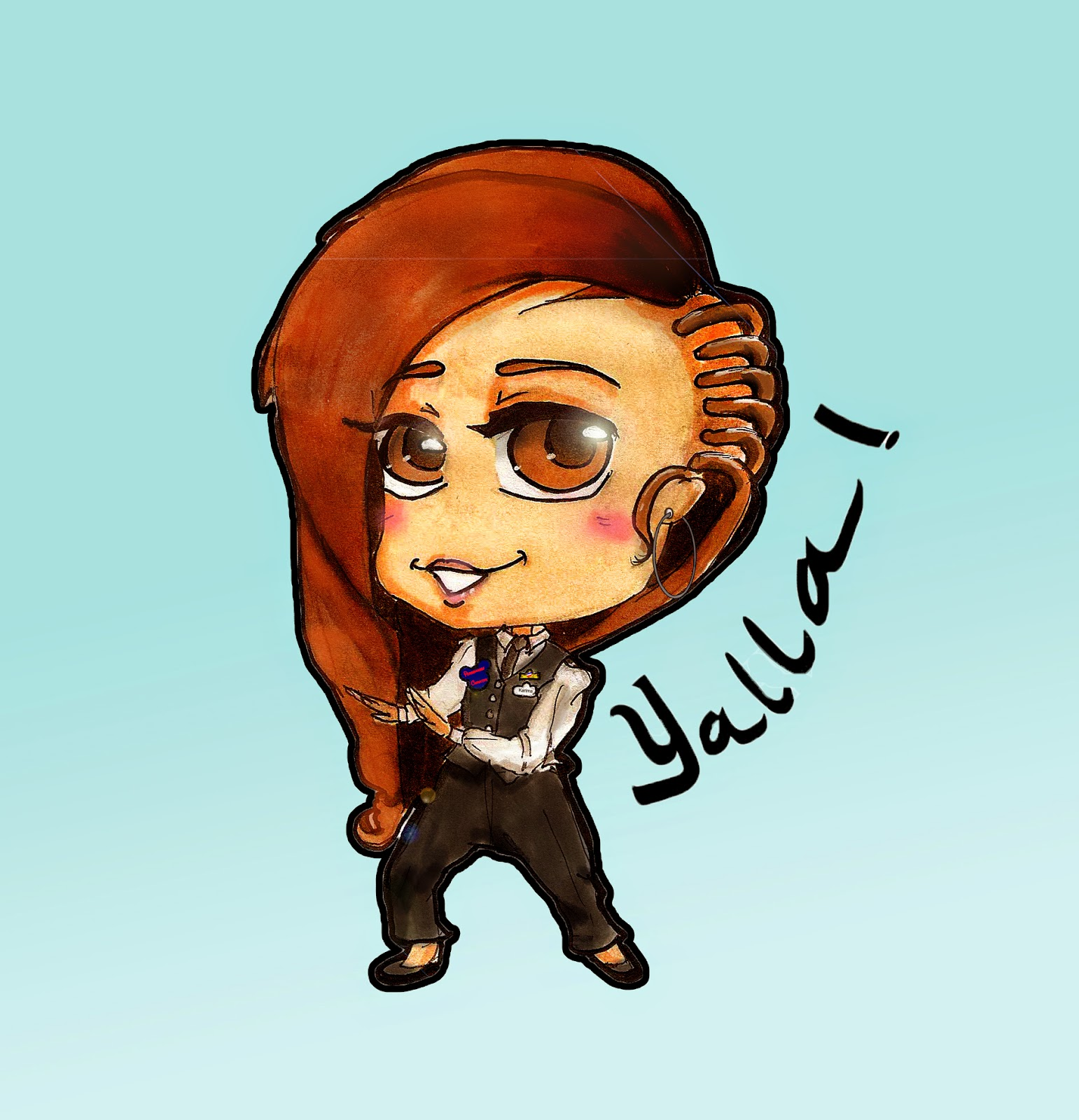 Chibi, illustration, yalla woohzoolyn