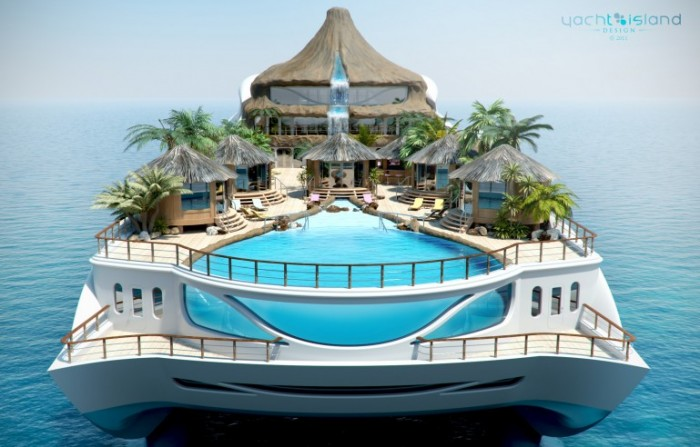 ai que chic tropical island paradise um iate que 233 uma british firm yacht island design creates floating cities