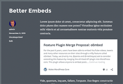 wordpress 4.4 oembeds features