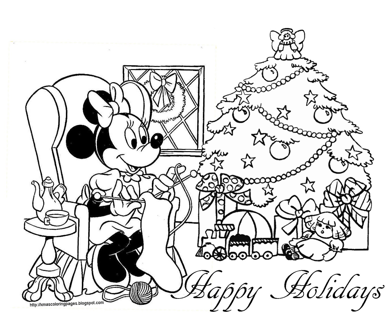 xmas disney coloring pages - photo#30