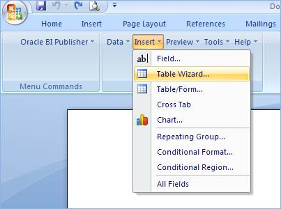 How to create RTF Template in BI Publisher ~ Datawarehouse Architect