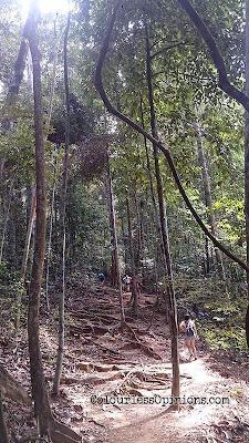 gunung lambak steep stairs