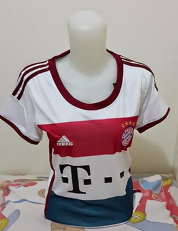 Jersey Bayern Munchen Away Ladies Grade Ori 2014-2015 Putih