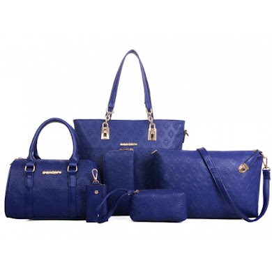AA FASHION BAG (6 IN 1 SET) - BLUE