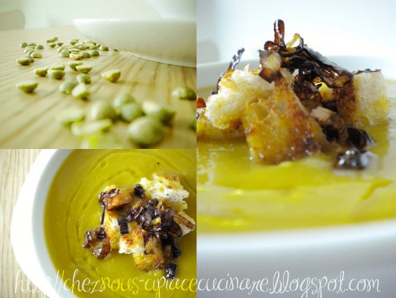 A casa nostra ci piace cucinare vellutata di piselli spezzati piatto vegetariano - Ci piace cucinare ...
