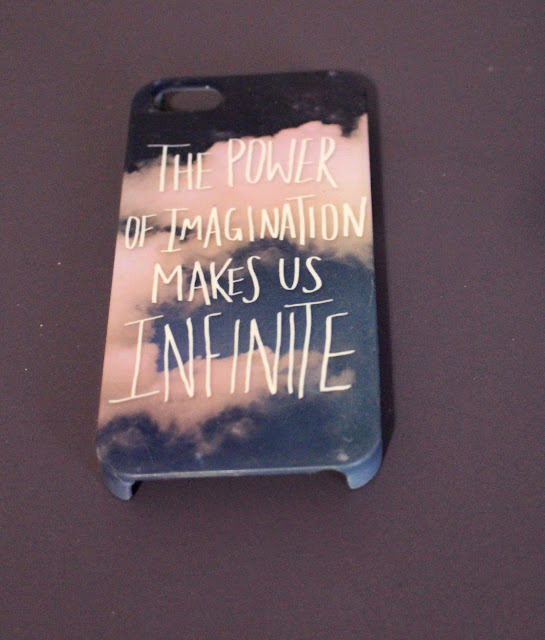The power of imagination makes us infinite Leah Flores iphone Case