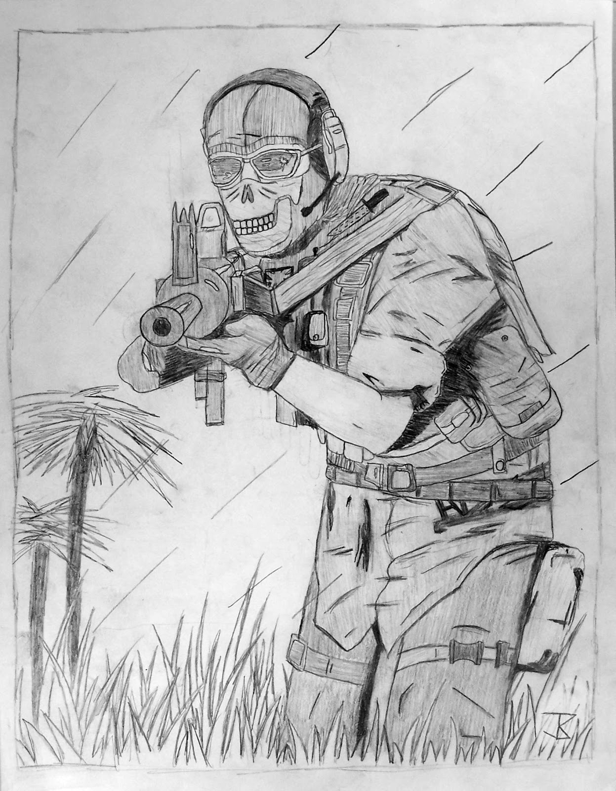 how to draw call of duty ghost