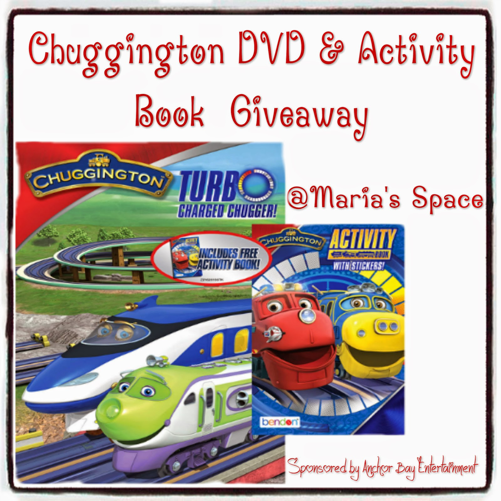 maria u0027s space chuggington turbo charged chugger dvd u0026 activity