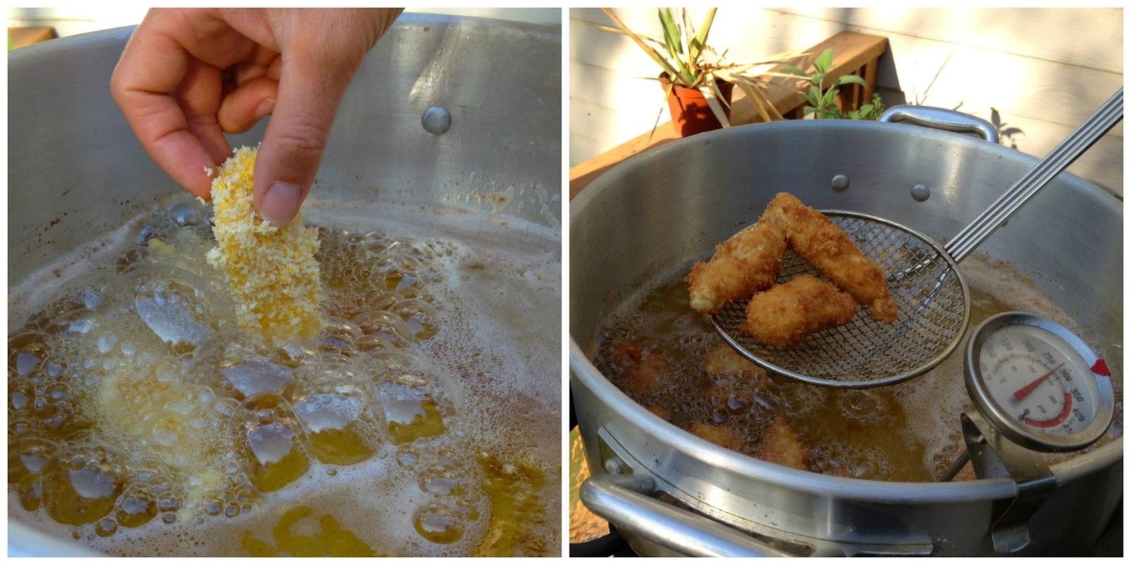 The baked alaska project deep fried alaska halibut cheeks for Best oil for deep frying fish