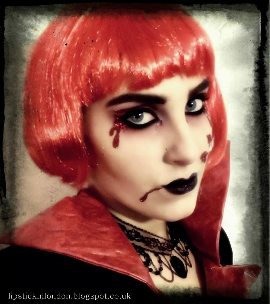 Lipstick in London: Halloween Vampire Makeup