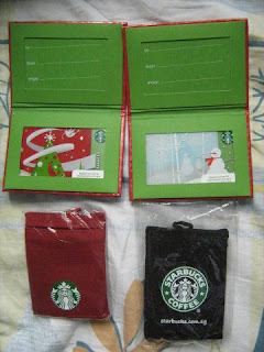 Starbucks Coffee cards caddy Malaysia Singapore Asia gift pack lot limited edition