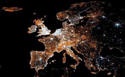 visualisering av användning av sociala medier i Europa