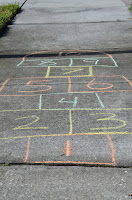 hopscotch board drawn for a prekindergarten child
