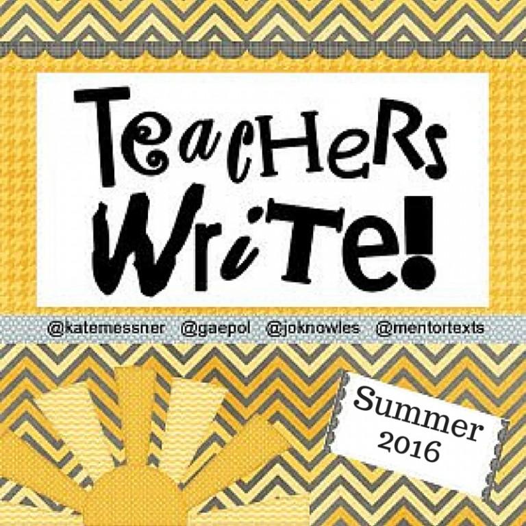 Teachers Write participant