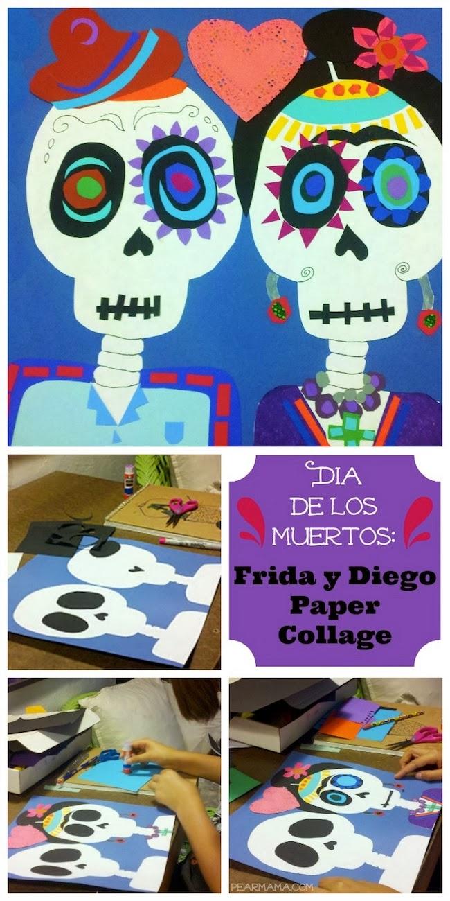 Scrapbook paper collage - Collagedia De Los Muertosfemale Artistfrida Kahlorubber Cementscrapbooking Papertissue Paper 12 14 00 Pm