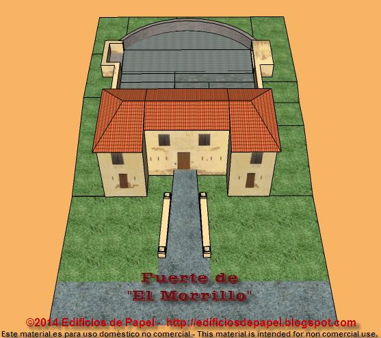 Anímate y construye el diorama del fuerte del Morrillo