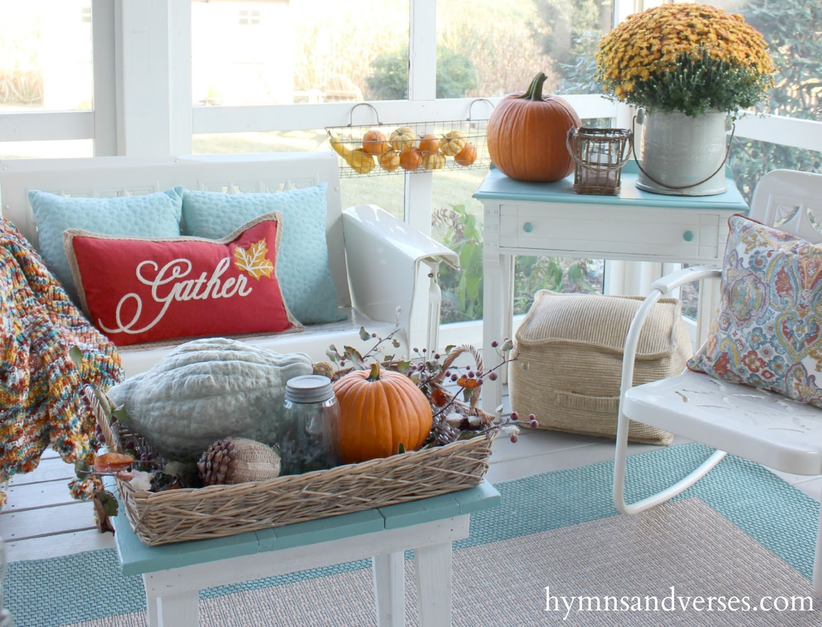 2015 fall home tour hymns and verses for Decor to adore