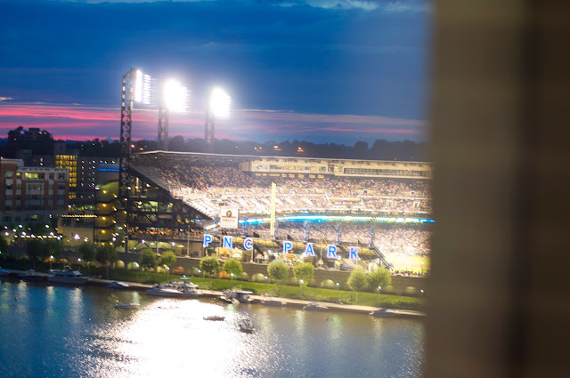 photos of PNC Park from the Renaissance Pittsburgh Hotel