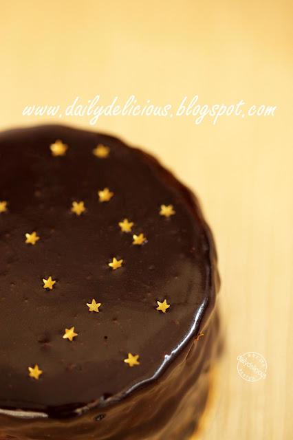 Allergen free Boston cream cake
