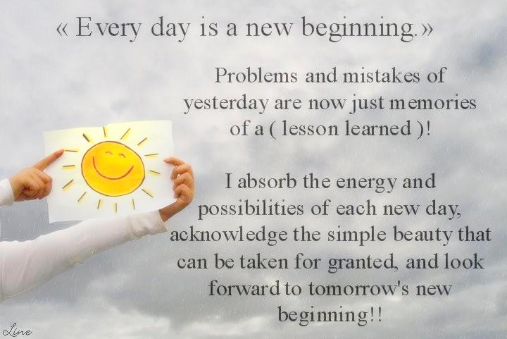 gallery for new day new beginning quotes