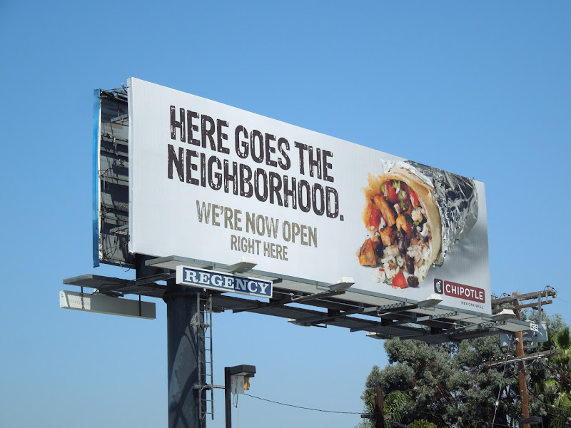 Here goes the neighborhood Chipotle billboard
