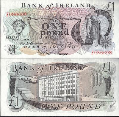Irlanda del Nord 1 Pound 1980 P# 65