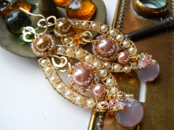 Vintage Faux Pearl and Glass Pearl Earrings