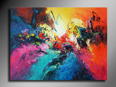 Art canvas and paint