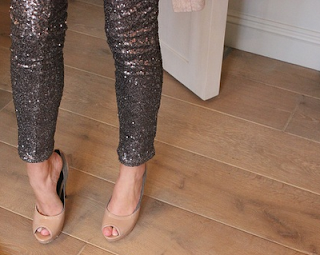 Saint Bustier Sequin Leggings and Shoes