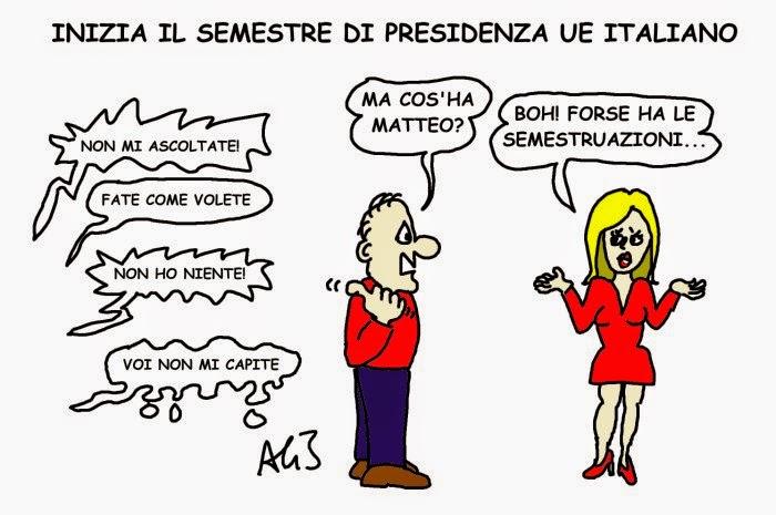 vignetta UE, Renzi