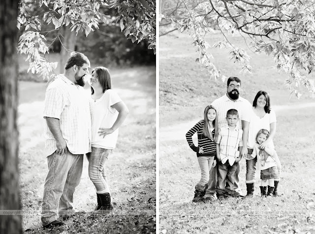 black and white family photos - Clinton Indiana Photographer