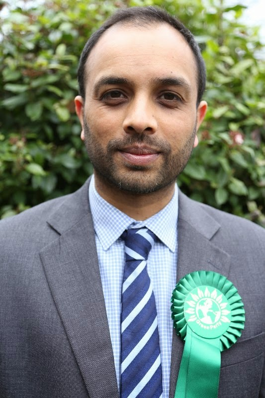 Shasha Khan Green Party candidate for Carshalton & Wallington