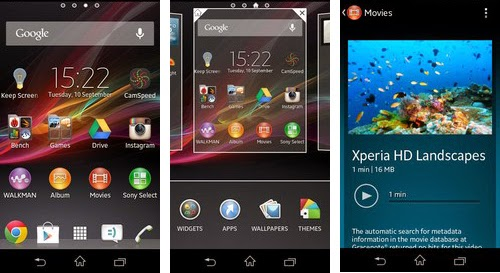 User Interface - Sony Xperia M