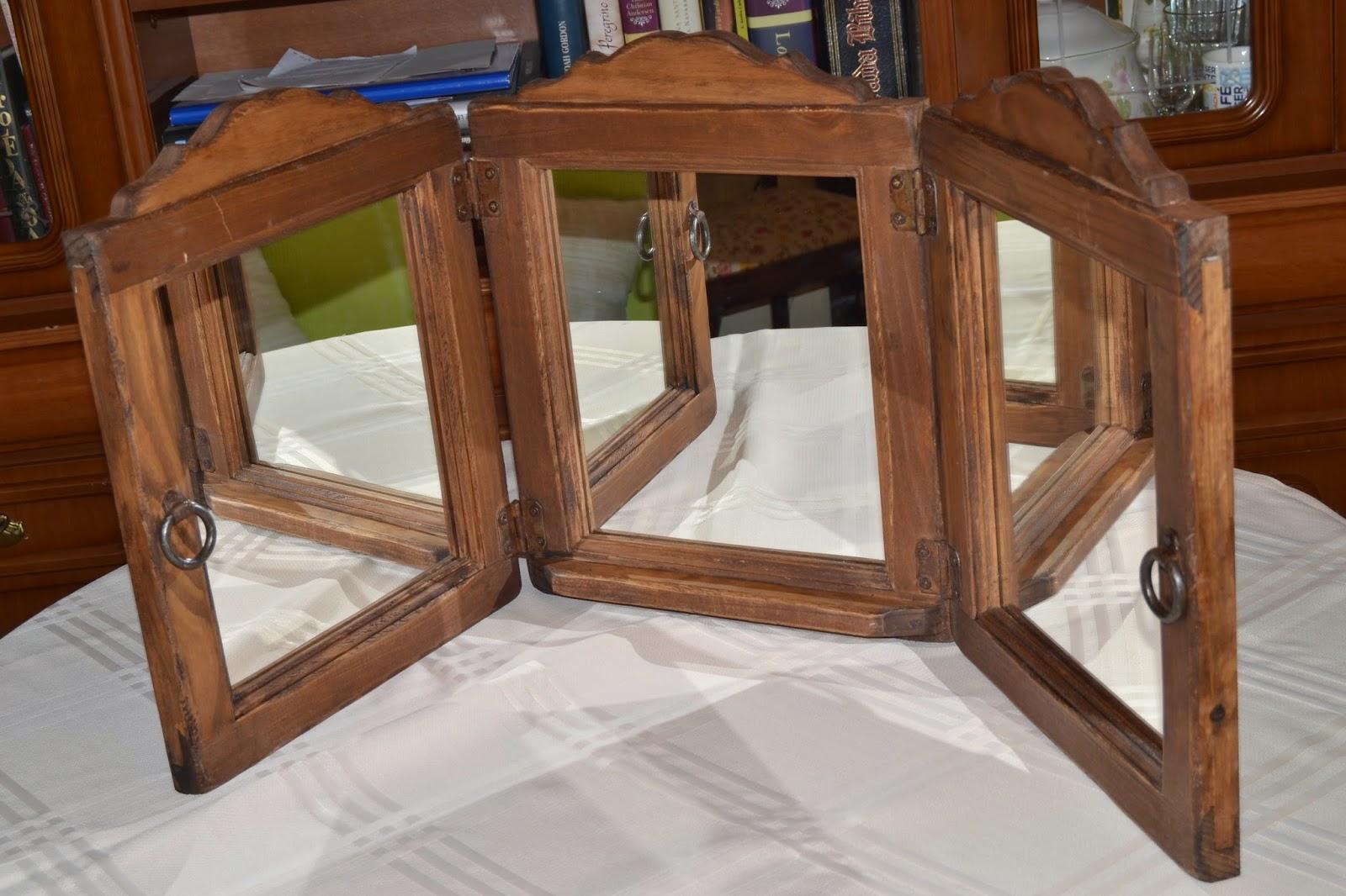 Artesan a r stica en madera marcos de madera for Espejos de bano rusticos