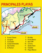 Panama Pacific beaches, some of the prettiest beaches in the world, . (map beaches)