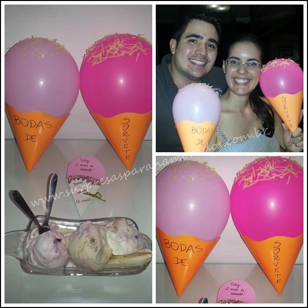bodas de sorvete 2 meses de namoro