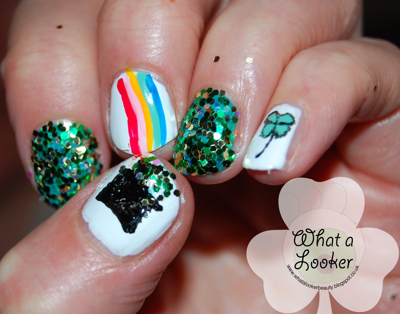 What A Looker St Patricks Day Nail Art