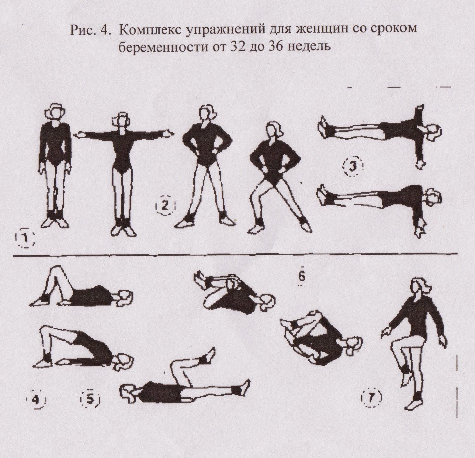 Комплекс упражнений для беременных женщин 738