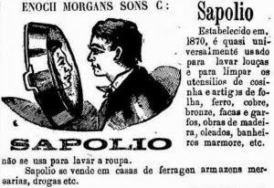 Anúncio de 1891 mostrava como fazer a panela brilhar como espelho.