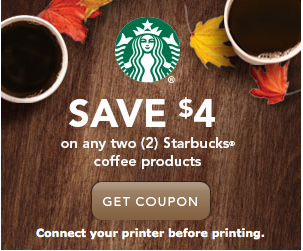 $4 Off Two Starbucks Coffee Products Coupon