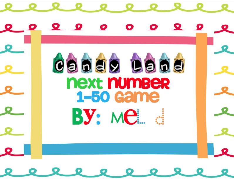 http://www.teacherspayteachers.com/Product/Candy-Land-Next-Number-1-50-Game-237245