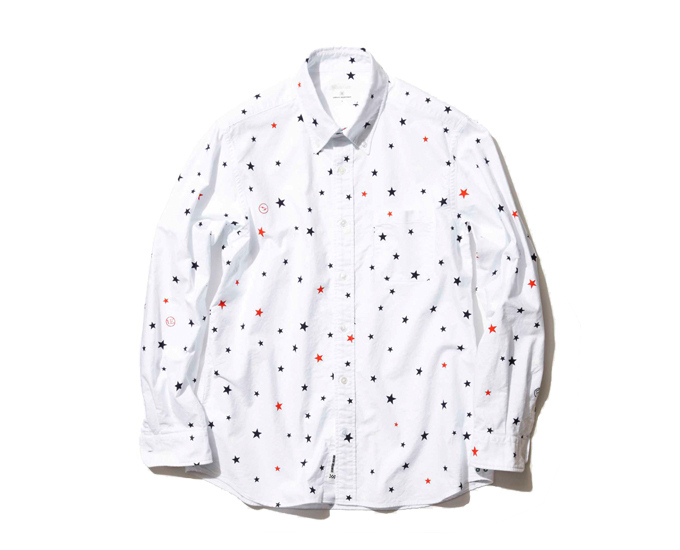 WE STREET : uniform experiment Cotton Oxford LS Star Pattern