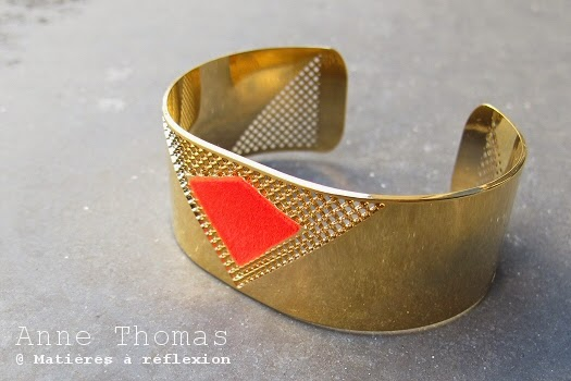 Bracelet Anne Thomas Lucky star rouge
