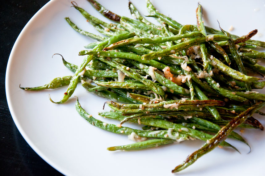 Parmesan Ranch Roasted Green Beans Recipe — Dishmaps