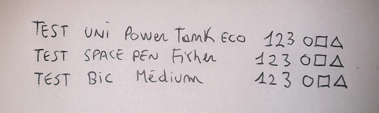 test-scrittura-uniball-power-tank-space-pen-bic