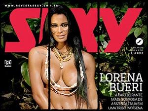 Lorena Bueri Nua na Revista Sexy De Fevereiro 2015