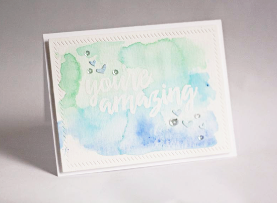 Handmade card featuring the Written in Watercolor stamp set #mftstamps