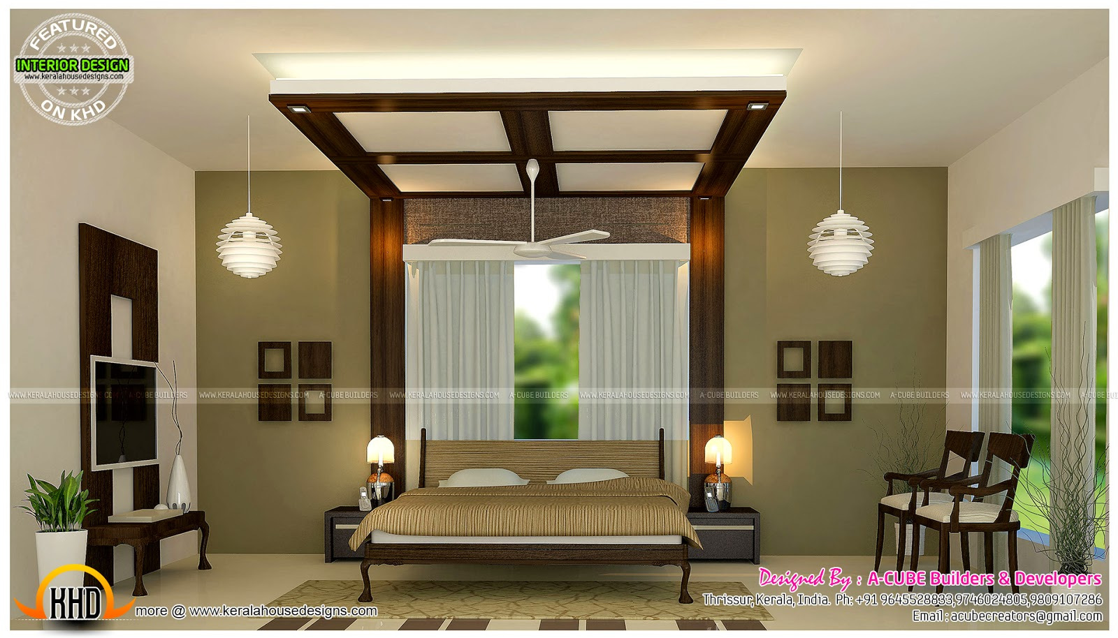 Master Bedrooms And Kitchen Interior Kerala Home Design And Floor Plans