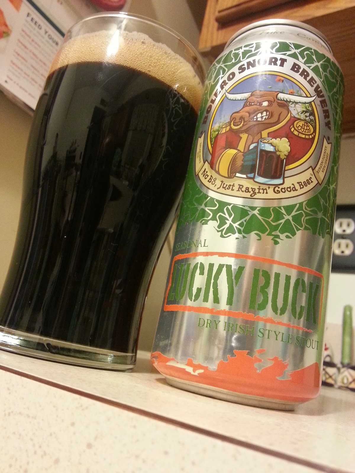 Bolero Snort Brewery, Lucky Buck, Dry Irish Stout, New Jersey Craft Beer